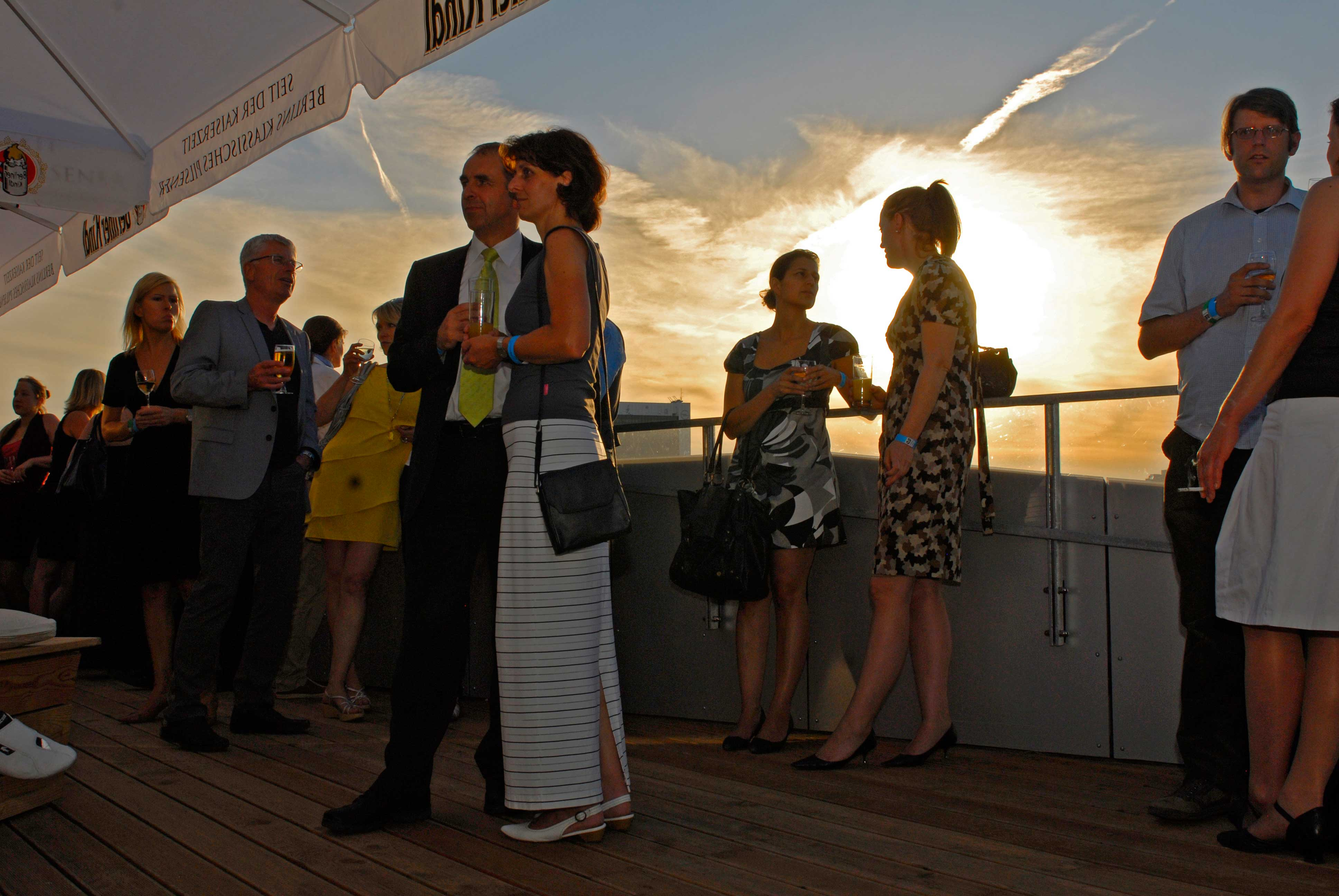Sonnenuntergang von Dachterrasse Humboldt Box